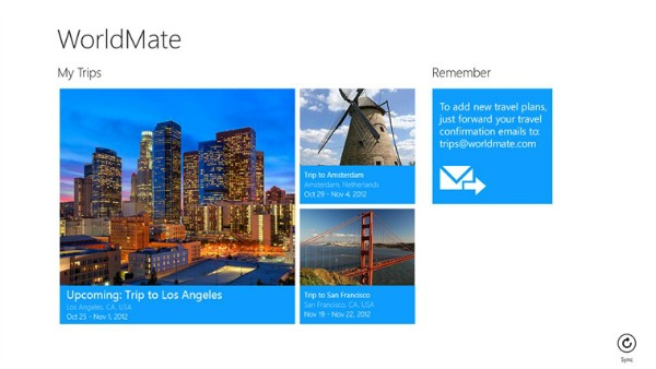 World Mate Windows 8 Travel app