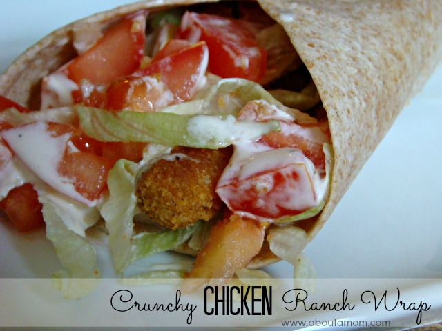 Crunchy Chicken Ranch Wrap Made with Tyson Chicken Fries