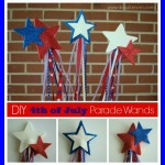 DIY 4th of July Parade Parade Wand Craft for Kids