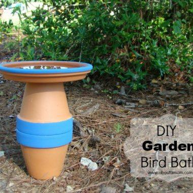 DIY Garden Bird Bath Project