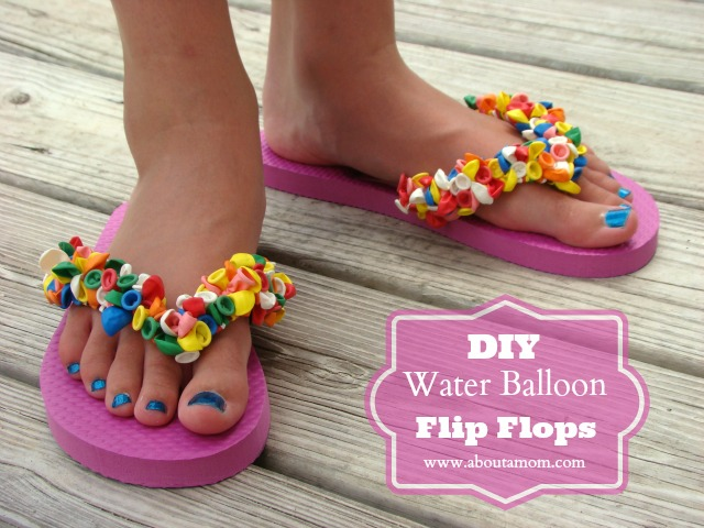 2147e22da0733f DIY Water Balloon Flip Flops Craft - About A Mom