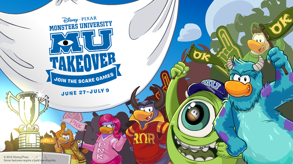 Monsters University Takeover Event at Disney's Club Penguin