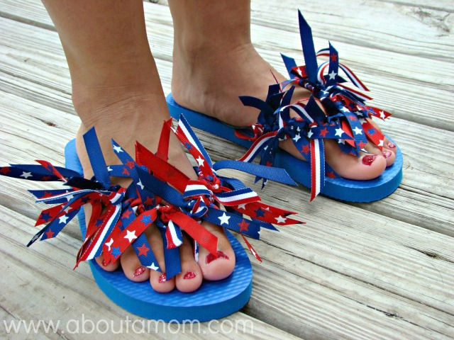 Ribbon Flip Flops Craft