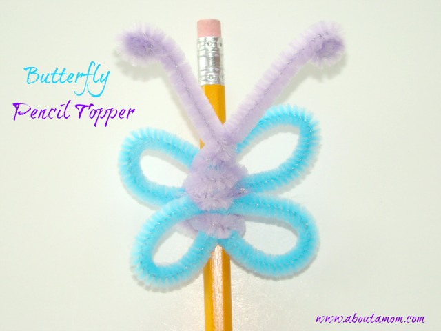 Back to School Crafts - Butterfly Pencil Topper