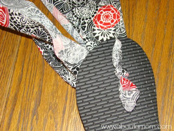 Fabric Flip Flops DIY