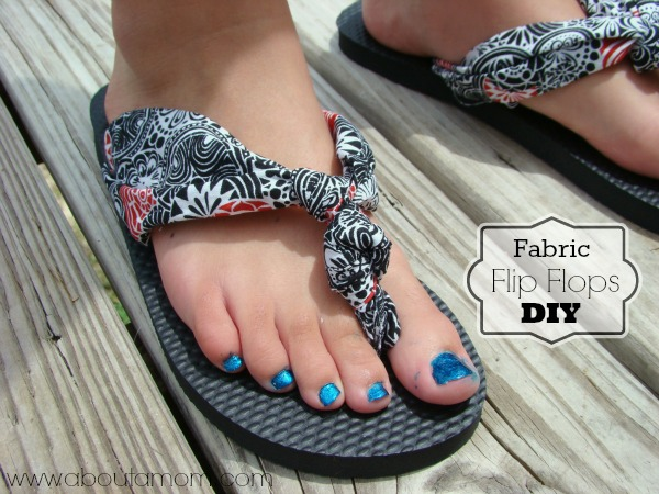 daf9bc971b8058 Fabric Flip Flops DIY  Tutorial  - About A Mom