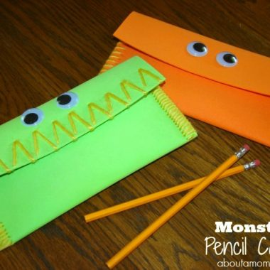 Monster Pencil Cases Crafts for Kids