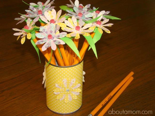 Back to School Teacher Gift - Pencil Flowers