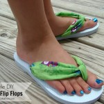 Simple DIY Fabric Flip Flops
