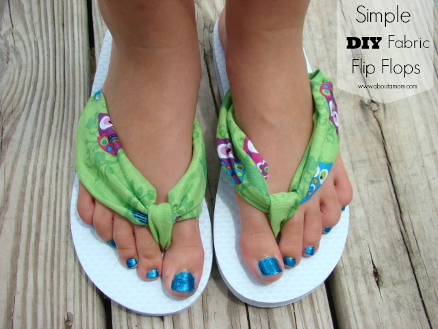 Simple DIY Fabric Flip Flops Tutorial