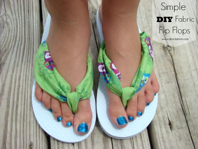 de2c13272dfee Simple DIY Fabric Flip Flops - About A Mom