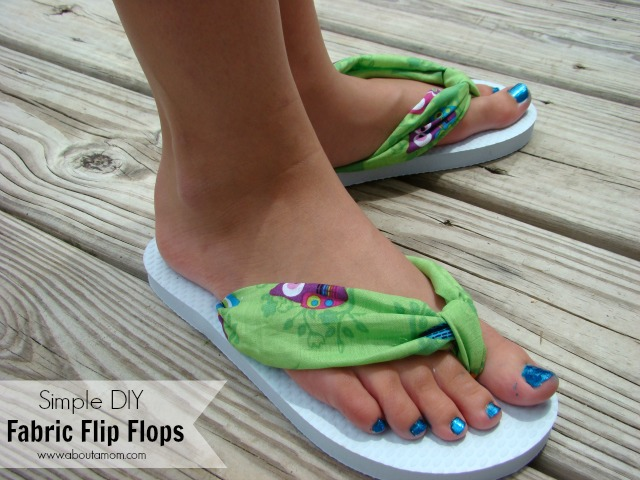 2f8090df00938e Simple DIY Fabric Flip Flops - About A Mom