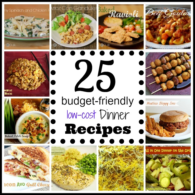 25 Budget Friendly Dinner Recipes