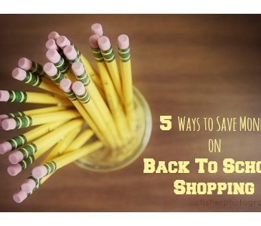 5 Ways to Save Money on Back to School