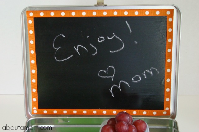 Back to School Chalkboard Lunch Box DIY