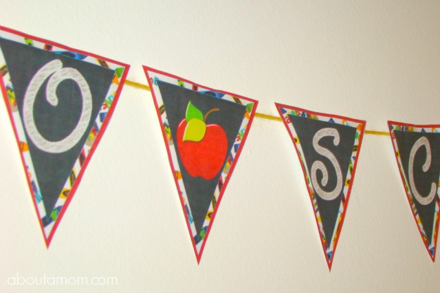 Back to School Party Printables - Banner