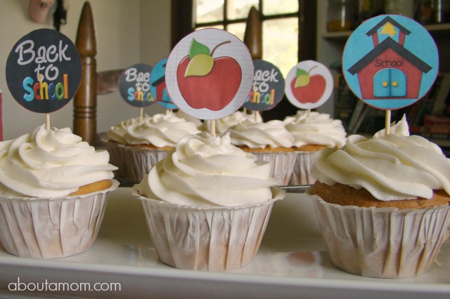 Back to School Party Printables - Cupcake Toppers