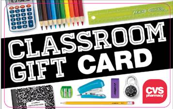 CVS Classroom Gift Card Promotion