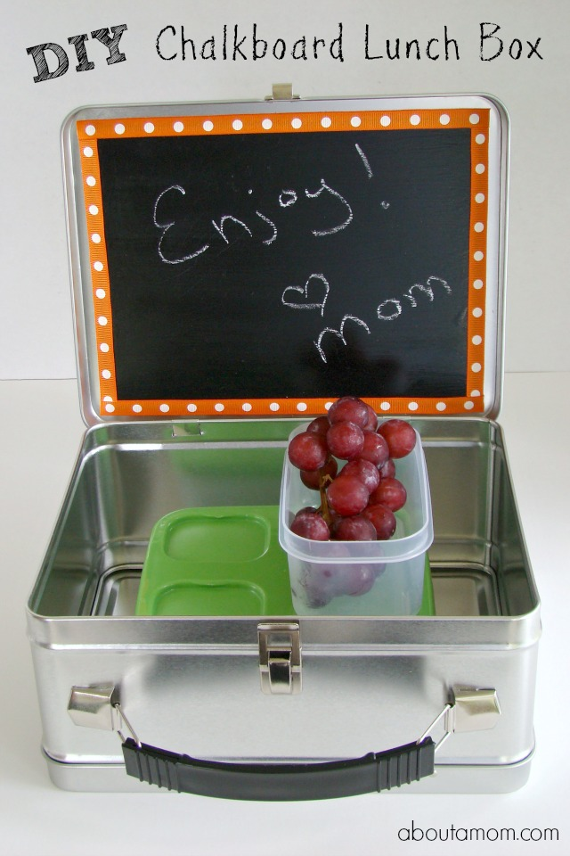 DIY Chalkboard Lunch Box