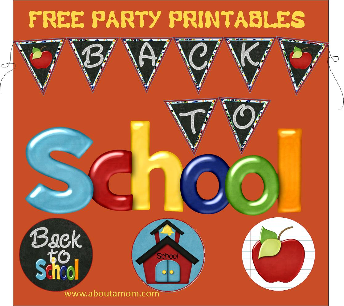 Free Back to School Party Printables