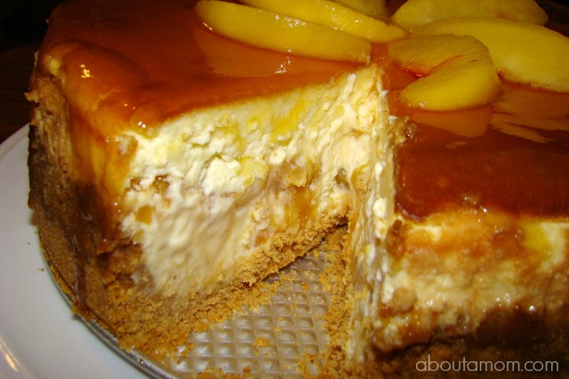 Fresh Peach Cheesecake Recipe - About A Mom