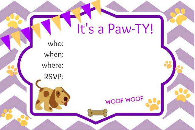 Dog Birthday Party Invitations Free