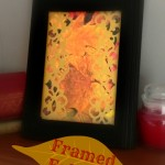 Framed Fall Art - Dollar Store Craft