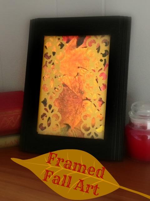 Framed Fall Art: Dollar Store Craft