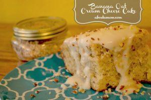 Banana Oat Cream Cheese Cake