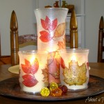 Inexpensive Fall Candle Holder Decoupage Project