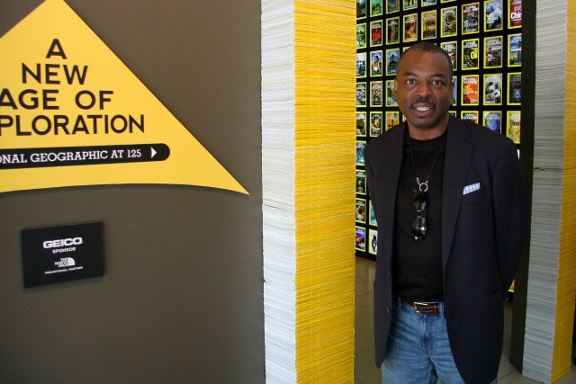 LeVar Burton at National Geographic Headquarters for Reading Rainbow app
