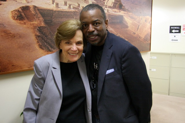 LeVar Burton with Oceanographer and Explorer, Sylvia Earle