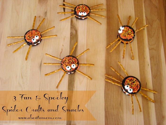 3 Fun and Spooky Spider Crafts and Snacks
