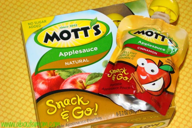 Fall Themed Bento Featuring Mott's Snack & Go Applesauce Pouches