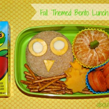 Fall Themed Bento Lunch for Kids
