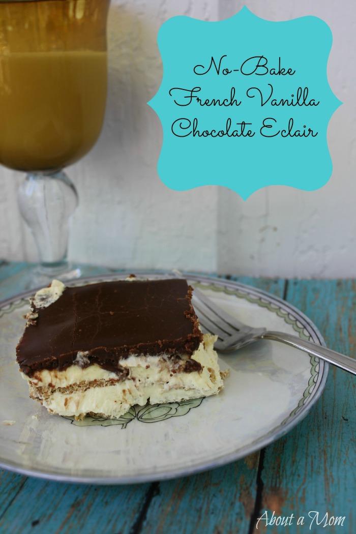 No Bake French Vanilla Chocolate Eclair Recipe