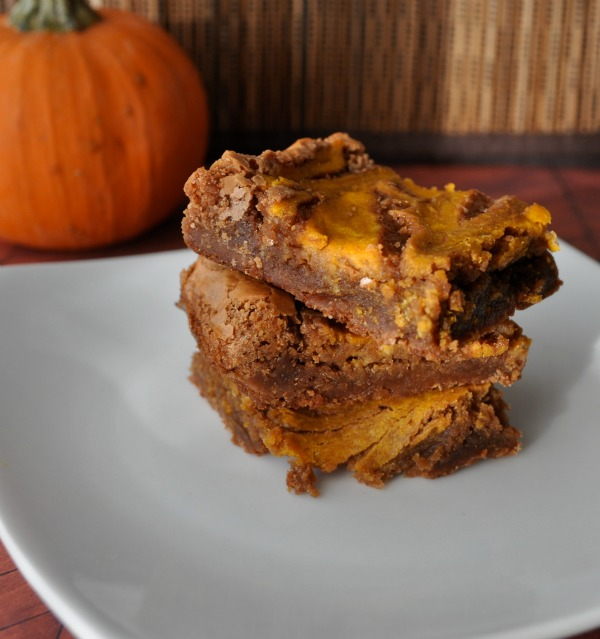 Pumpkin Cheesecake Swirl Brownies - About A Mom