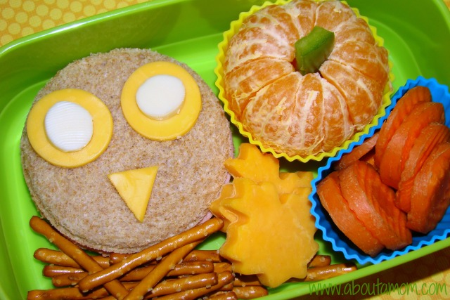 Simple Fall Themed Bento Lunch for Kids