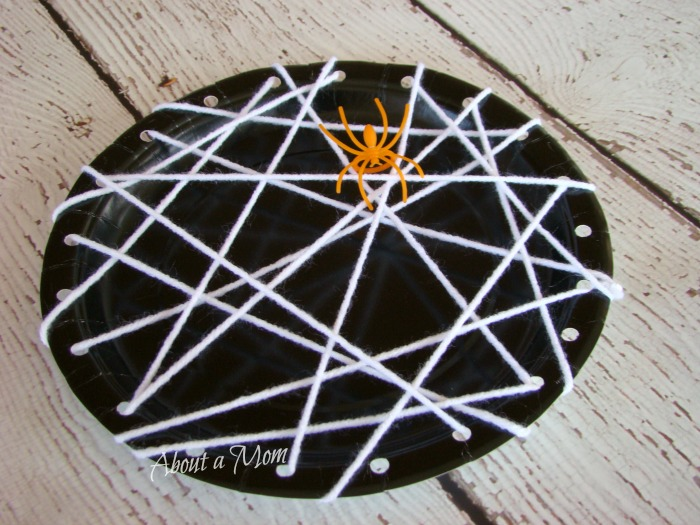 Spider Web Paper Plate Craft