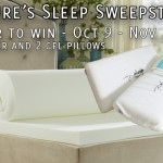 Nature's Sleep Memory Foam Topper and Pillows Giveaway