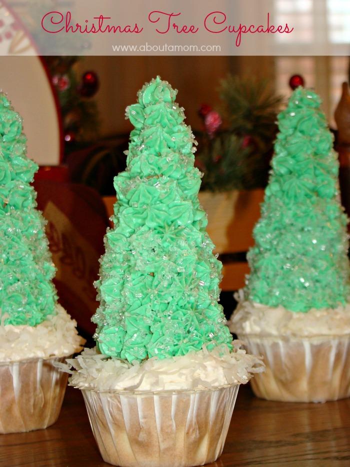 christmas tree cupcakes made with truvia baking blend healtherholidays