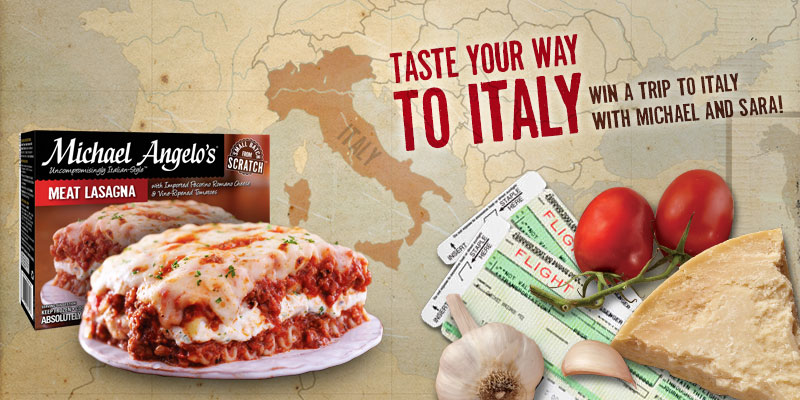 Michael Angelo's Taste Your Way to Italy Sweepstakes