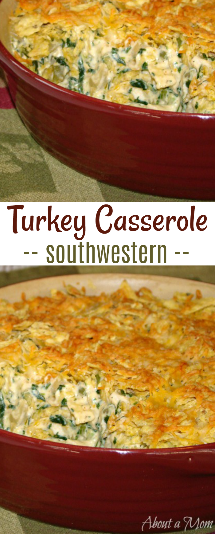 Southwestern Turkey Casserole is a great recipe for using up holiday turkey leftovers.