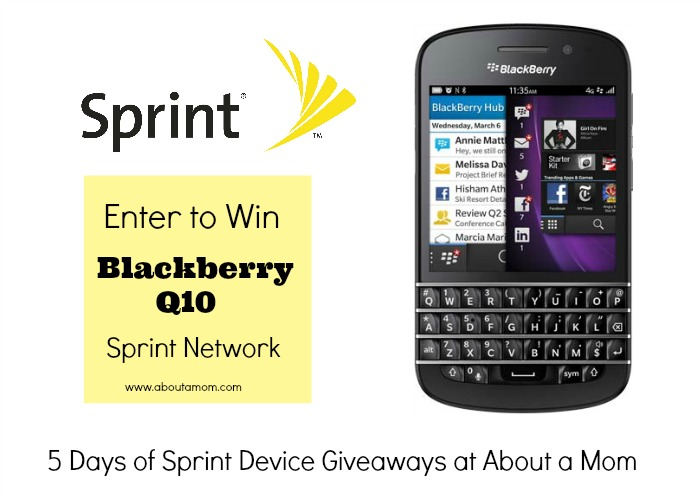 Win a Blackberry Q10 from Sprint