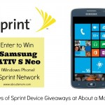 Win a Samsung ATIV S Neo (windows device) from Sprint
