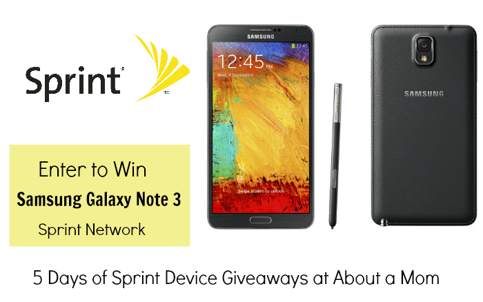 Win a Samsung Galaxy Note 3 from Sprint