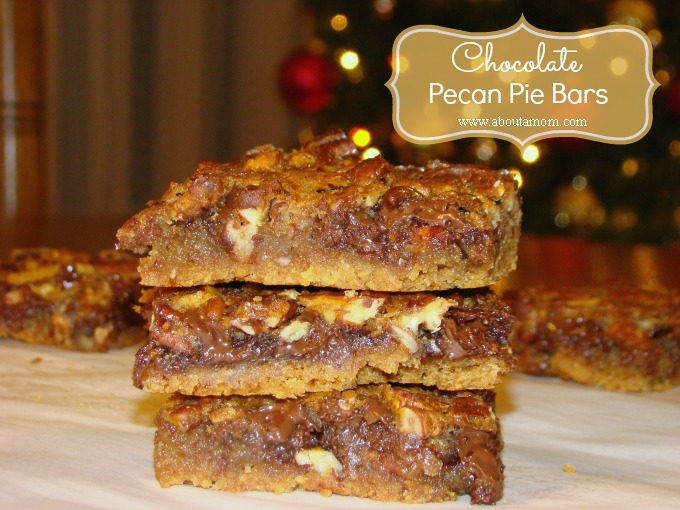 Chocolate Pecan Pie Bars Recipe on About a Mom
