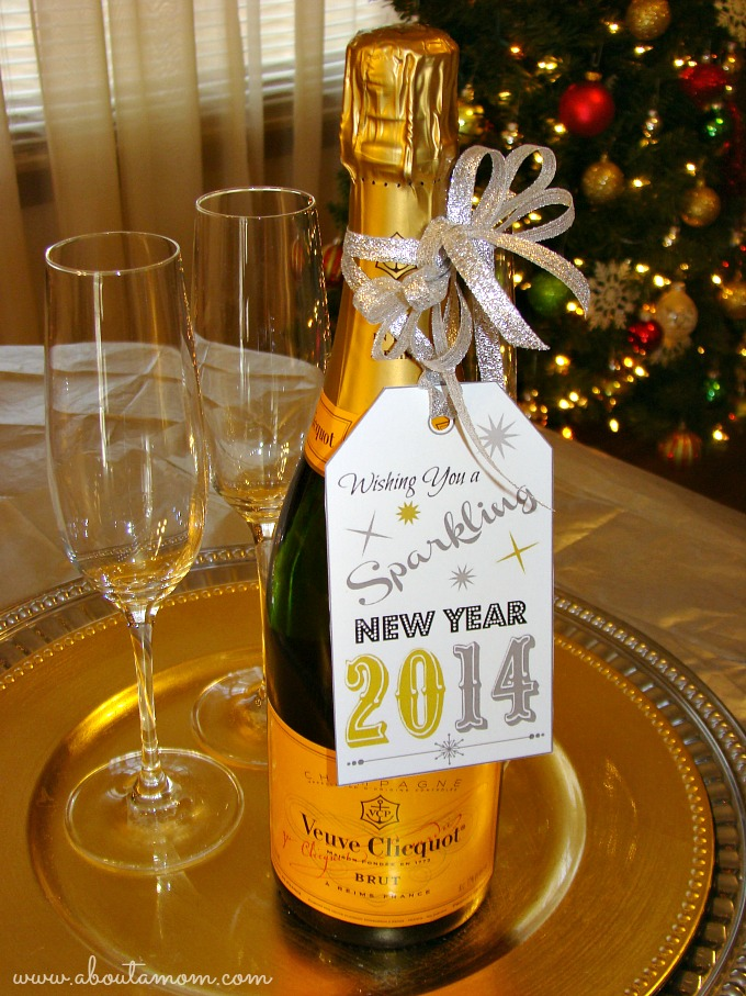 Have a Sparkling New Year Champagne Bottle Printable