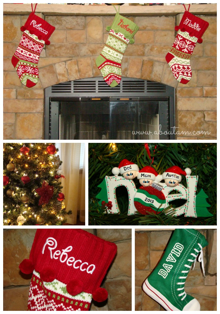 Personalized Stocking and Ornaments from Personal Creations