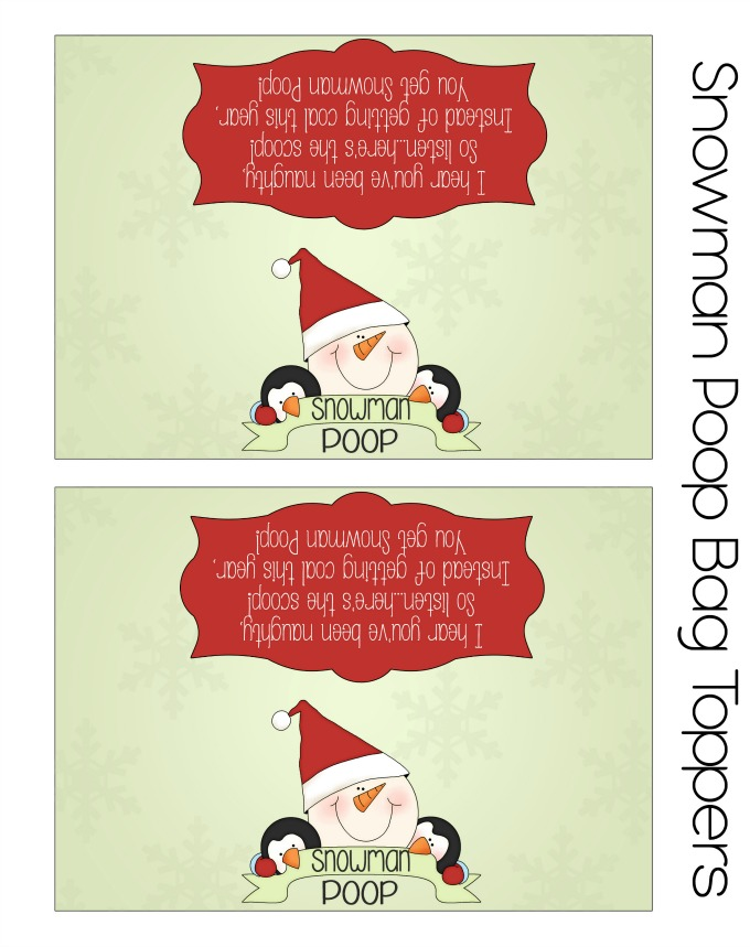 Snowman Poop Printables